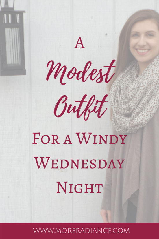 A Modest Outfit for A Windy Wednesday Night