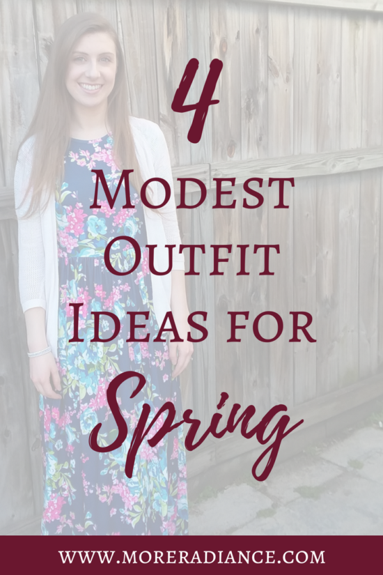 4 Modest Outfit Ideas for Spring | Modest Fashion | Modest Clothing | Floral Dress