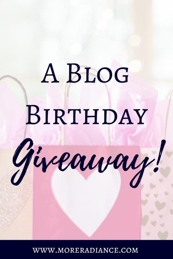 A Blog Birthday Giveaway! More Radiance Blog