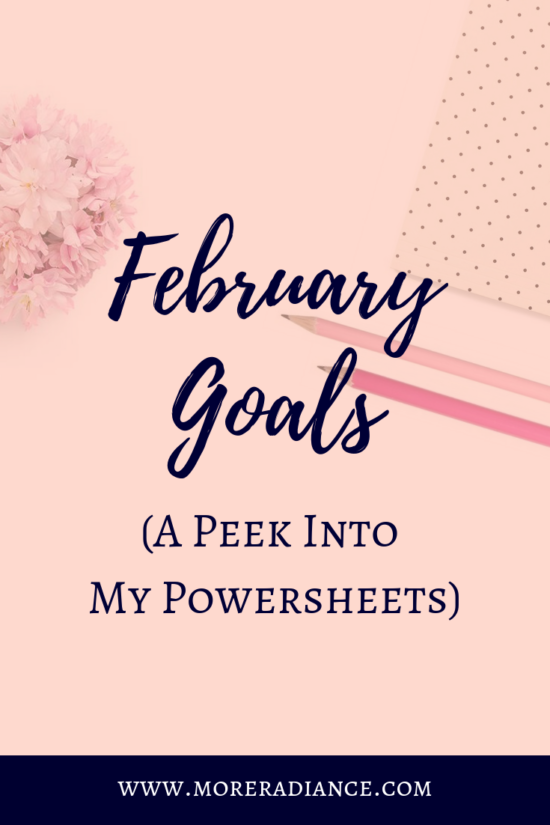 February Goals A Peek Into My Powersheets